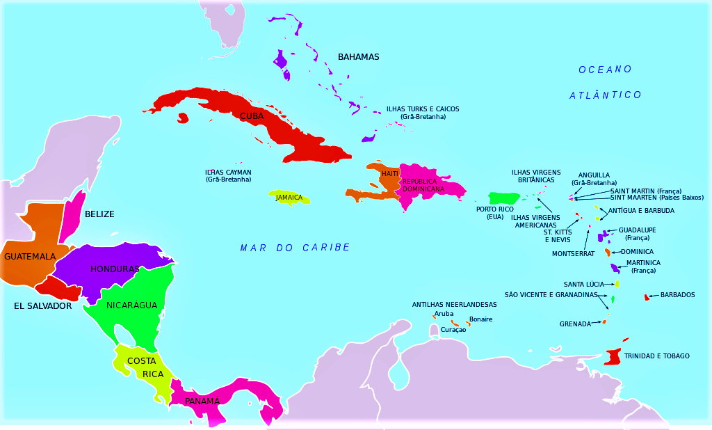 plano islas antillas mar caribe con nombres