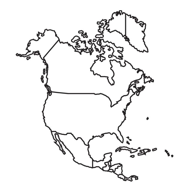 mapa norte america para imprimir